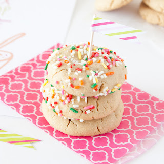 Sprinkled Soft Peanut Butter Cookies