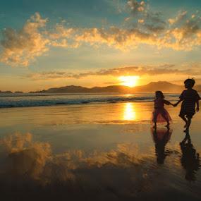 Pulau Merah by Dhiean Kukuh - Landscapes Beaches ( sunset, sunrise, beach,  )