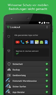 Antivirus & Sicherheit Lookout Screenshot