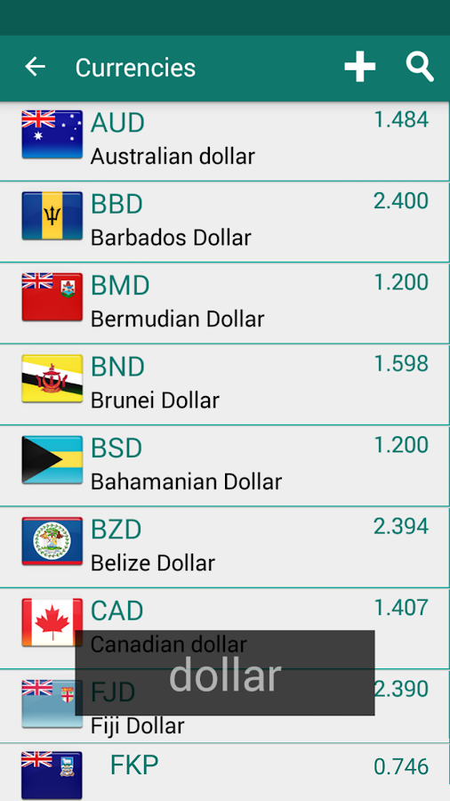 Currency Converter Plus Screenshot 5