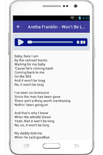 Aretha Franklin Respect Lyrics - screenshot