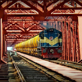 Dear Oil Tanker by Joy Arefin - Transportation Trains ( #rail #oiltanker #hardingbridge #paksey #bangladesh )