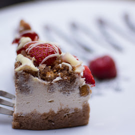 Treat by Rune Nilssen - Food & Drink Cooking & Baking ( k3, cake, gdansk, white, best, pentax, world, rune, berries, poland )