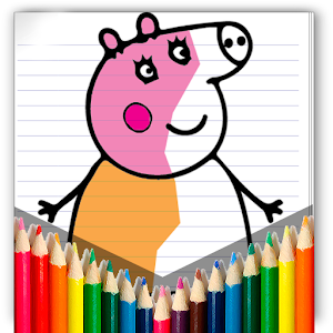 coloring peppa pig game