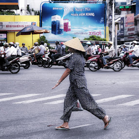 with the flow by Boris Jakesevic - City,  Street & Park  Street Scenes ( traffic, street, vietnam, travel, saigon, people )