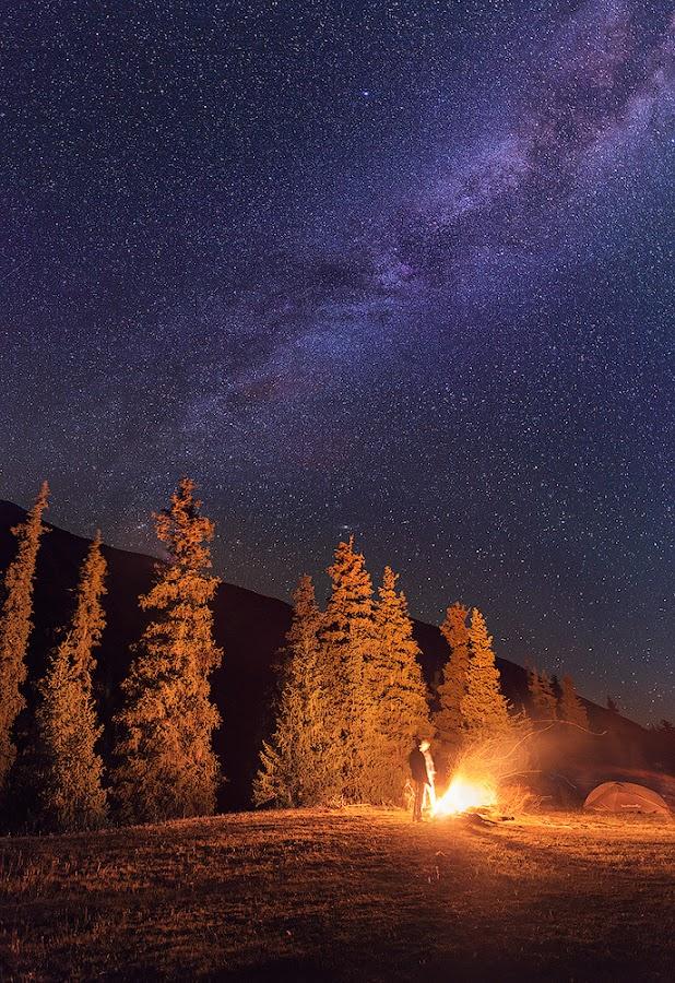 Milky way by Danil Korzhonov - Landscapes Mountains & Hills ( tien-shan )