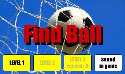 Find soccer ball - screenshot