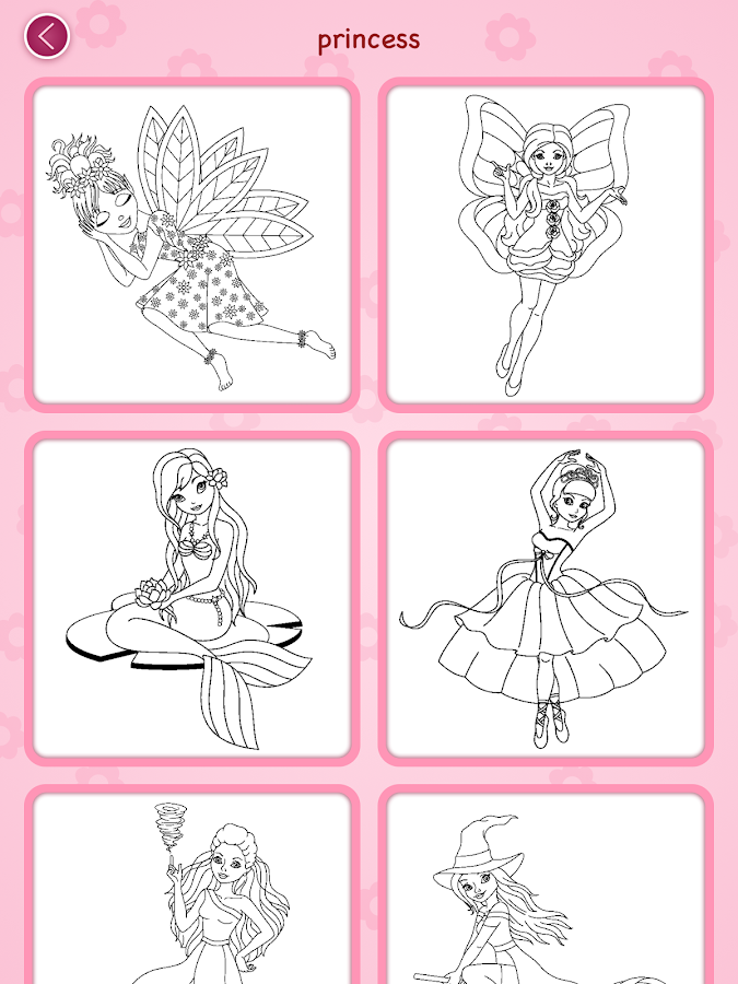 Princess coloring book Screenshot 14
