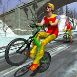 Clown Bicycle Ride VR 2017: A Bike Riding Game Icon