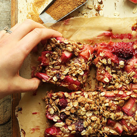 Strawberry Rhubarb Crumble Bars (GF)