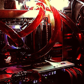 Gaming Desktop by Jeffri Jaffar - Products & Objects Technology Objects ( water cool, amd, pentium, asus, graphics card )