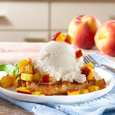 Chef Antonia Lofaso's Pound Cake & Peaches Sundaes