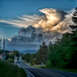 Cumulonimbus by Nick-Nikola Mraovic - Landscapes Cloud Formations ( croatia, dark, clouds, evening, cumulonimbus, summer )