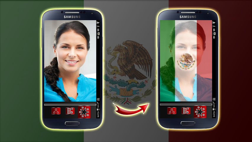 android Mexico Flag Profile Picture Screenshot 3
