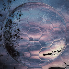 HexGlobe by Johnny Knight - Digital Art Abstract ( abstract, planet, nature, art, fun, landscape, science )