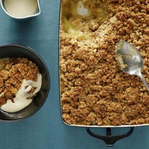 Classic Apple Crumble With Ground Almond And Oat Topping