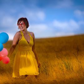 Balloons by Photo Jovan - People Fashion ( sky, cornfield, balloons )