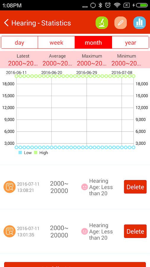 iCare Hearing Test Pro Screenshot 2