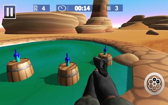 Real Bottle Shooting Expert Gun Shooter 3D Game apk screenshot