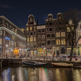 Amazing Amsterdam by Marcel Eringaard - City,  Street & Park  Historic Districts ( nikonshooter, night photography, night lights, d7100, amsterdam photographer, amsterdam, nikon, street scenes, netherlands, marz photography, nightscape, city at night, street at night, park at night, nightlife, night life, nighttime in the city )