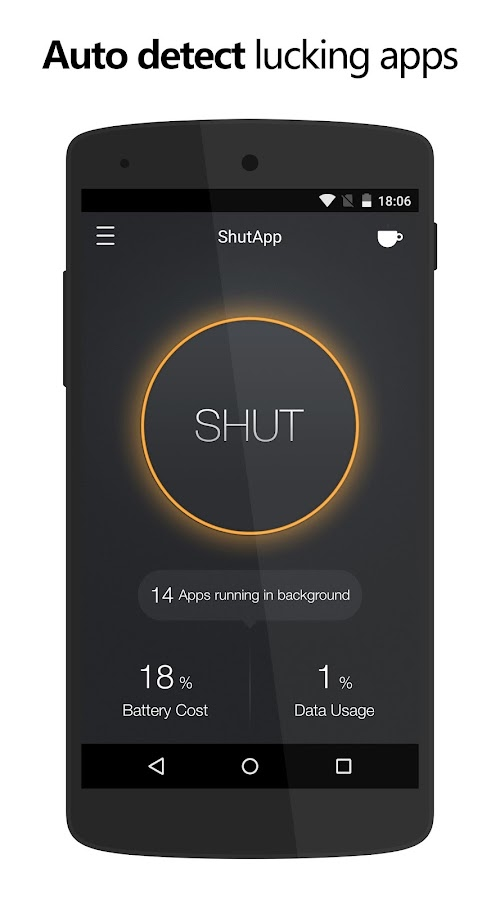 ShutApp - Real Battery Saver Screenshot 1