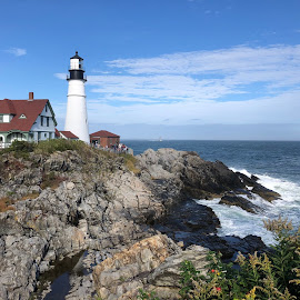 Maine Lighthouse by Bill Carbone - Buildings & Architecture Public & Historical