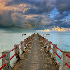 Path to Hurricane by Hendri Suhandi - Landscapes Weather ( clouds, nature, weather, sea, pwcstorm, bridge, travel, landscape, storm, hurricane, pwcpaths )