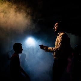 Fog by Cristian Oprescu - People Family ( foggy, children, men )