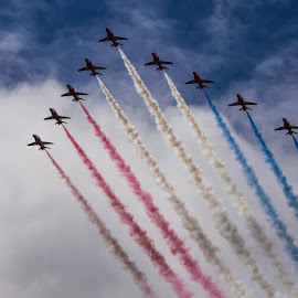 Red Arrows by Tracey Dolan - Transportation Airplanes