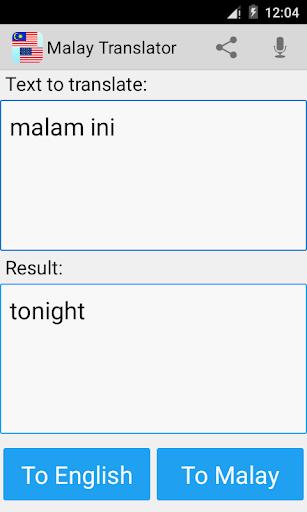 Malay English Translator Pro - screenshot