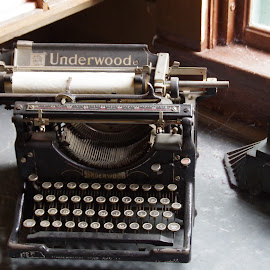 He never writes... by Michael Hoover - Artistic Objects Antiques ( manual, keys, typwriter, underwood, letters,  )