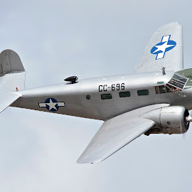 Beech C-45 by Jim Baker - Transportation Airplanes