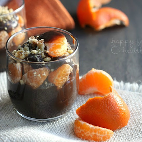 Healthy Chocolate Orange Pudding Parfaits