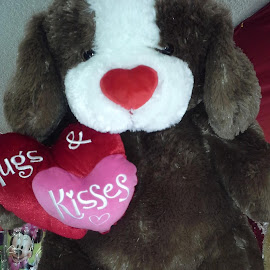 Pooch Sending Hugs & Kisses by Terry Linton - Artistic Objects Toys