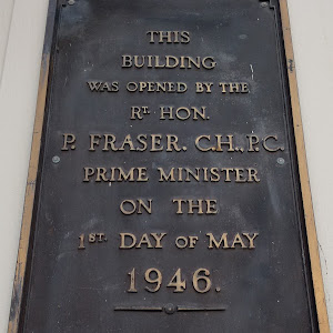Transcription:This building was opened by the Rt Hon P. Fraser C.H., P.C. Prime Minister on the 1st day of May 1946.Address: 154 Hanover Street, Dunedin, New ZealandSubmitted: Judith Swan