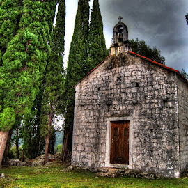 Old church by Zlatan Andrijašević - Buildings & Architecture Places of Worship ( old, sky, god, hdr, tree, church, churches, croatia, trees, rock, architecture )