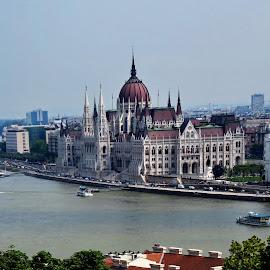 Budapest  - Hungary by Andjela Miljan - City,  Street & Park  Vistas