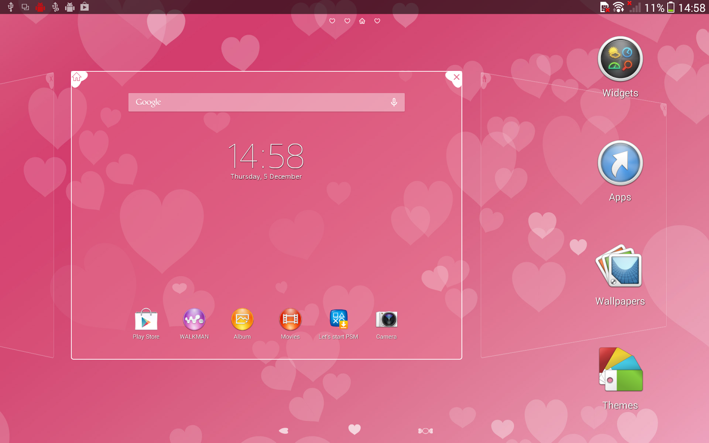XPERIA™ Pink Hearts Theme Screenshot 7