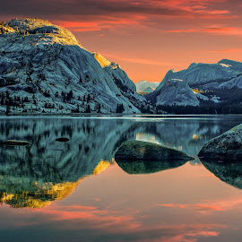 Fire Lake by Brian Menasco - Landscapes Sunsets & Sunrises ( #sierranevada, #laketenaya, #nationalpark, #yosemite, #sunrise )