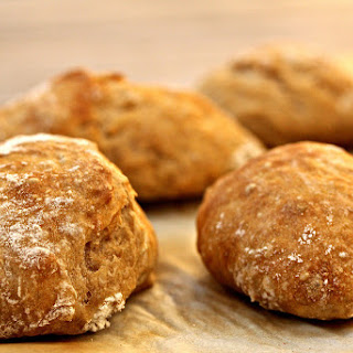 No Knead Rustic Dinner Rolls