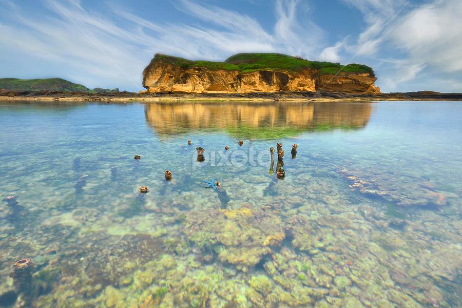 A Blue Starfish by Hendri Suhandi - Landscapes Travel ( hill, mountain, underwater, starfish, sea, lombok, travel, beach, landscape )