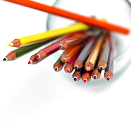 A bunch of colored pencils. by Dipali S - Artistic Objects Education Objects ( copy space, wood, spectrum, office supply, colors, school supplies, art, white, writing instrument, education, business, multi colored, heap, pencil, macro, stationary, pattern, vibrant color, selective focus, pencil drawing, back to school )