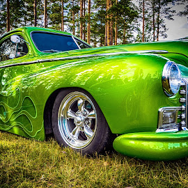 Green Bullet by Roar & Monika Sæthre - Transportation Automobiles ( car, m43, dølemo 2016, rod, wideangle, dodge, olympus )