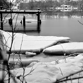 winter wonderland by Cecilie Hansteensen - Landscapes Weather ( fredrikstad, winter, glommastien, pir, norway, river,  )
