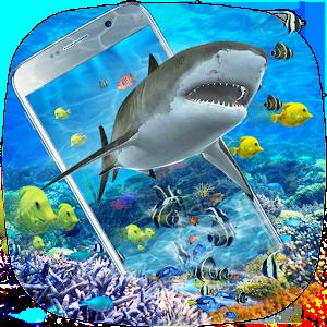 3D Ocean Shark Theme(shake&get effect) For PC
