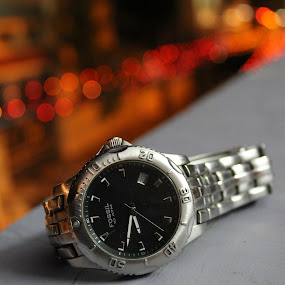 fossil watch in bokeh style by Sarath Goparaju - Artistic Objects Clothing & Accessories ( canon, abstract, night, india, bokeh )