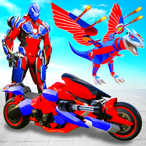 Flying Dino Transform Robot City Attack Robot Game For PC / Windows 7/8/10 / Mac – Free Download