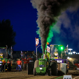 Pulling by Kenton Knutson - Sports & Fitness Motorsports ( smoking, tractor pull, pulling, tractor, competition,  )
