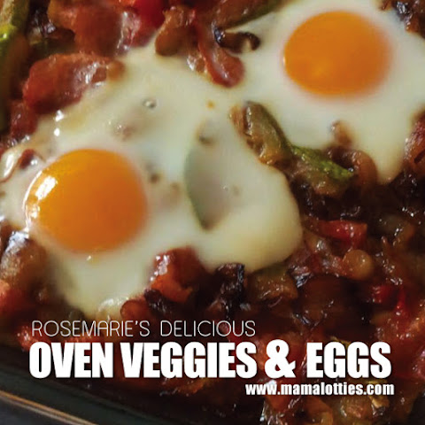 Oven Veggies and Eggs