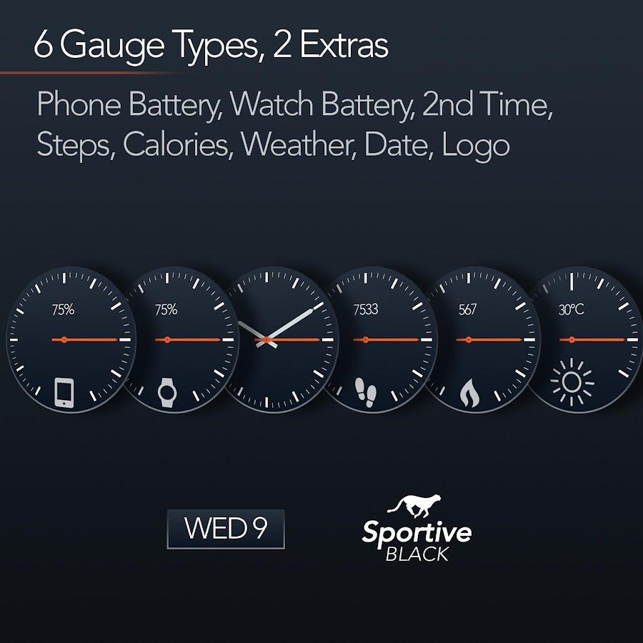 Sportive Watch Face Screenshot 2